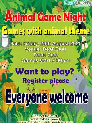 Animal Game Night11update