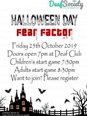 Halloween Day fear factor
